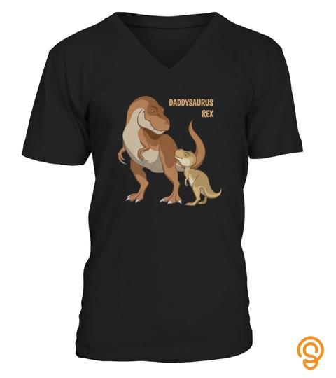 Daddysaurus Papa  Baby Trex Dinosaurs Tshirt   Hoodie   Mug (Full Size And Color)