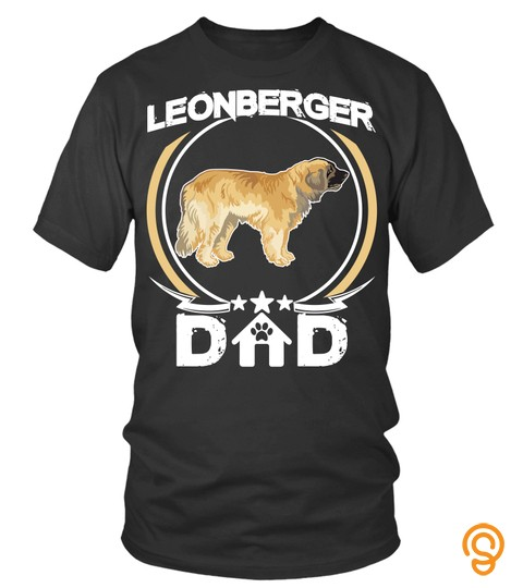 Leonberger Dad Tee Shirt For Fathers Day Gift