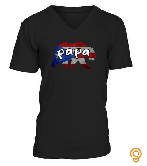 Mens Puerto Rican Boricua Papa Bear Matching Tshirt   Hoodie   Mug (Full Size And Color)