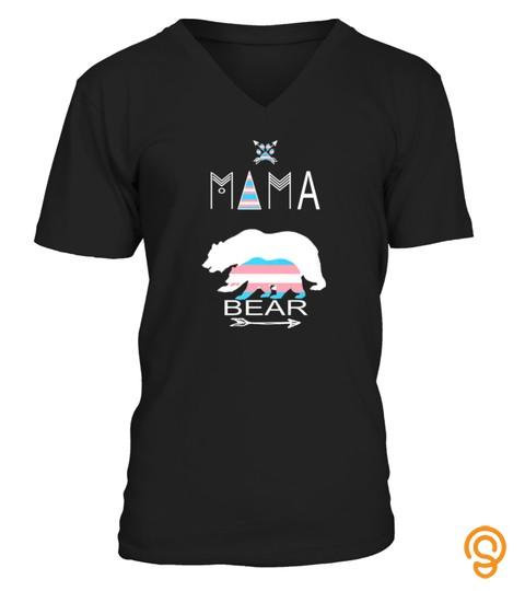 Transgender Mama Bear Tshirt Moms Of A Trans Child Tshirt   Hoodie   Mug (Full Size And Color)
