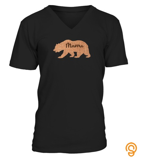 Mama Bear Burlap Design Shirt Mothers Day Mommy Gift Idea Tshirt   Hoodie   Mug (Full Size And Color)