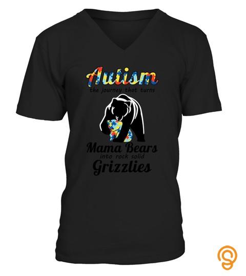 Autism Mama Bears Tshirt   Hoodie   Mug (Full Size And Color)