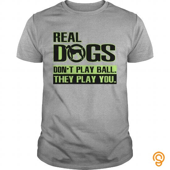 Crisp Real dogs don't play ball Tee Shirts Design