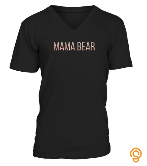 Mama Bear Rose And Gold Letters Message Tshirt   Hoodie   Mug (Full Size And Color)
