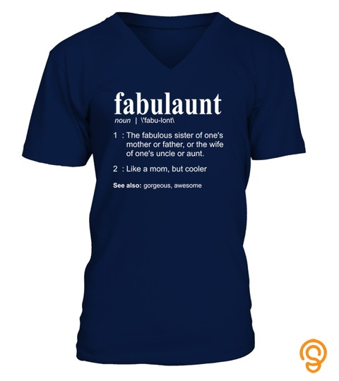 Fabulaunt Definition   Funny Aunt Shirt
