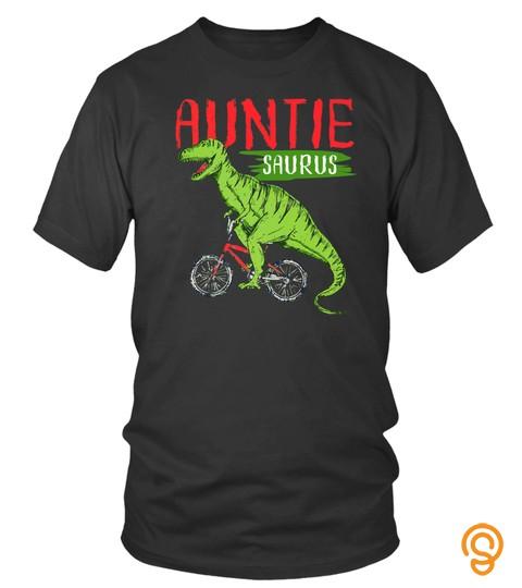Auntie Saurus Matching Dinosaur Aunt Family Shirt