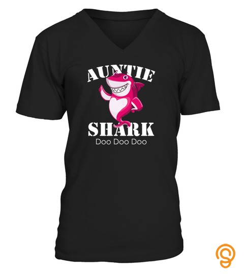 Womens Auntie Shark Tshirt Aunt Cousin Matching Family Shark Tshirt   Hoodie   Mug (Full Size And Color)