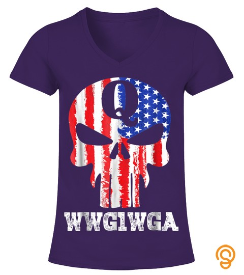 Q Anon Skull Wwg1Wga Political Conspiracy T Shirt