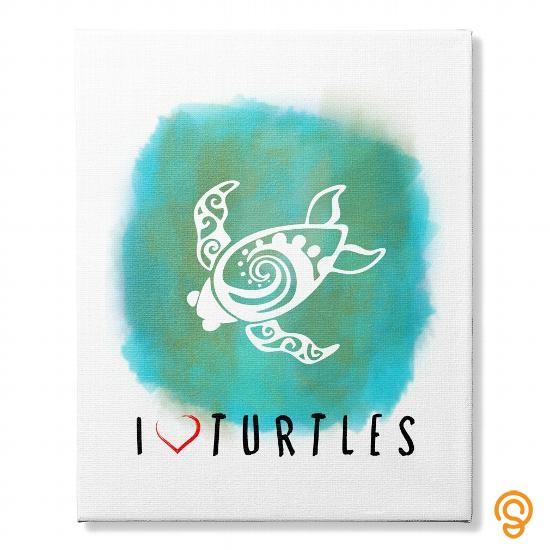 stylish-i-love-turtles-wall-canvas-t-shirts-printing