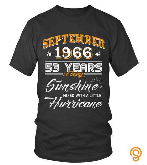 September 1966 53 Years of Being Sunshine Mixed Hurricane