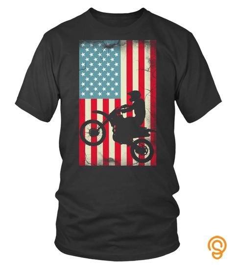 Dirt Bike American Flag 4Th Of July Christmas Gift Idea Sweatshirt