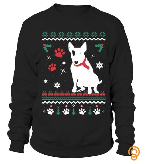 Bull Terrier Christmas Sweater Tshirt