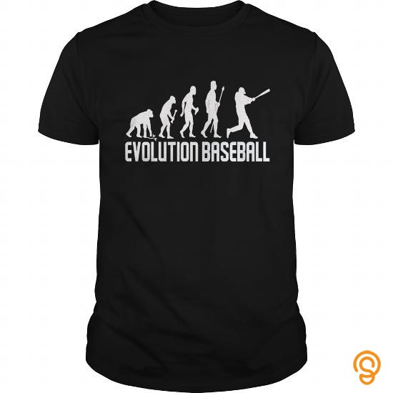 Finely Detailed Baseball Evolution Of Man T Shirts Ideas