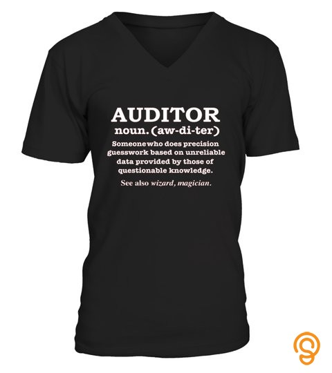 Auditor Definition Wizard Magician Funny T Shirt Gift Audit