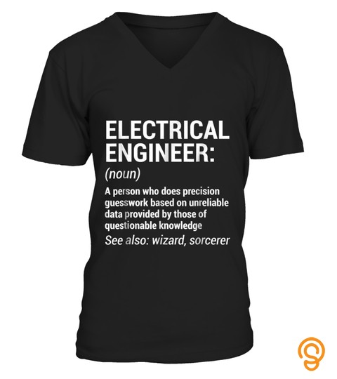 Electrical Engineer Definition T Shirt Funny Engineering Tee