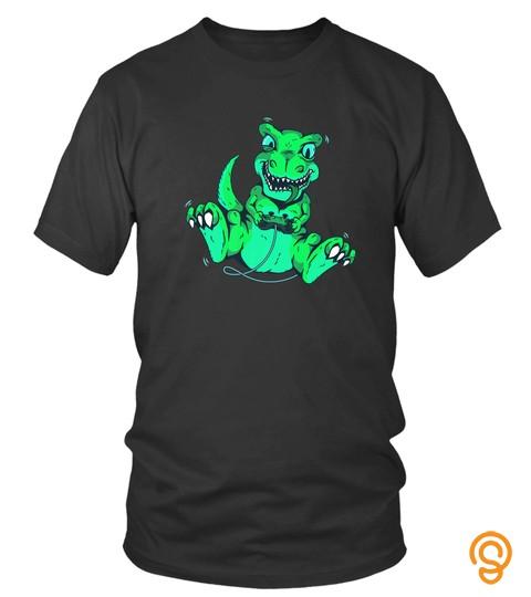 Video Game Tshirt Dinosaur T Rex Gamer Graphic Design