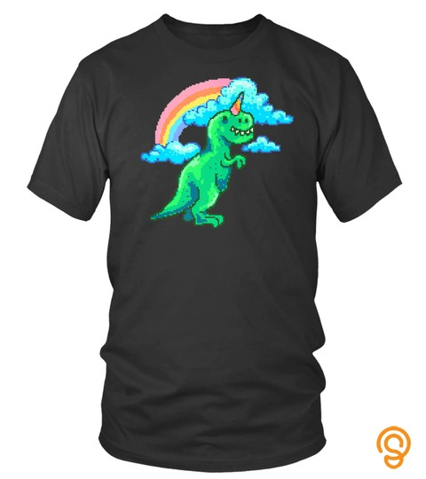 Unicorn Dinosaur T Rex And Rainbow Shirt For Kids