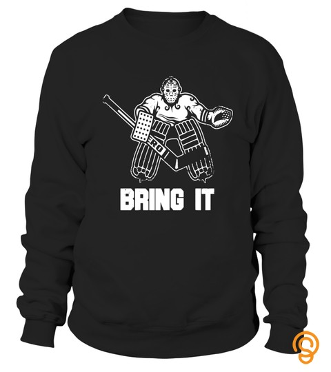 Funny Ice Hockey Player Gift Goalie Apparel Graphic T Shirt