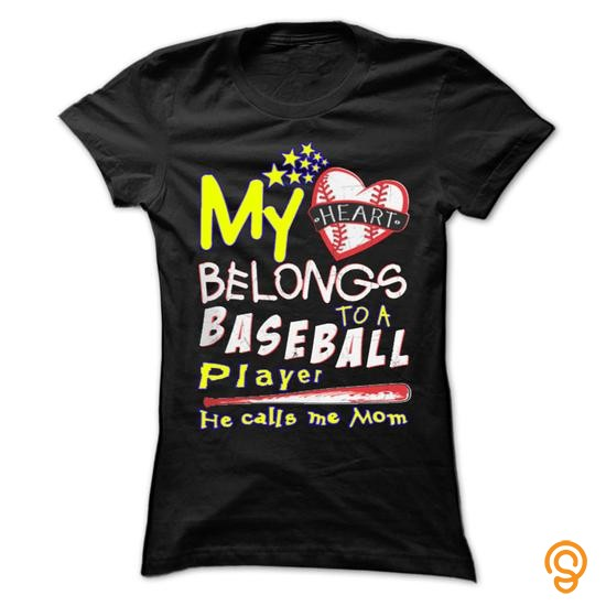 casual-my-heart-belongs-to-a-baseball-player-he-calls-me-mom-tee-shirts-for-sale