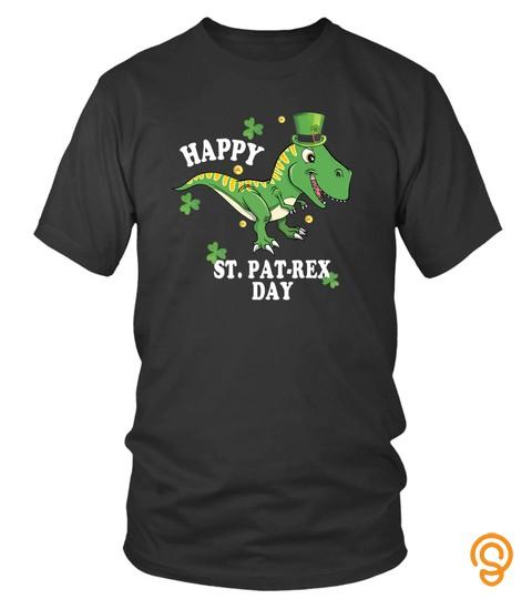 Irish Green Dinosaur T Rex St Patricks Day