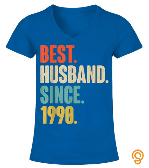 30Th Wedding Anniversary Gift   Best Husband Since 1990 T Shirt