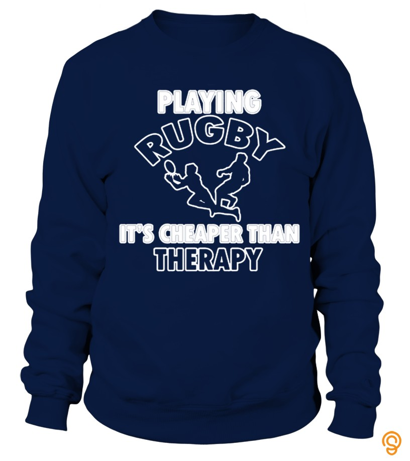 Rugby Design Cheaper Than Therapy T Shirt