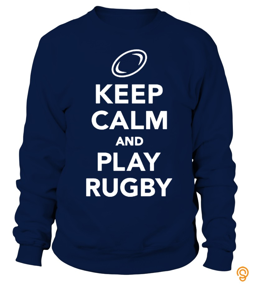 Keep Calm And Play Rugby T Shirt