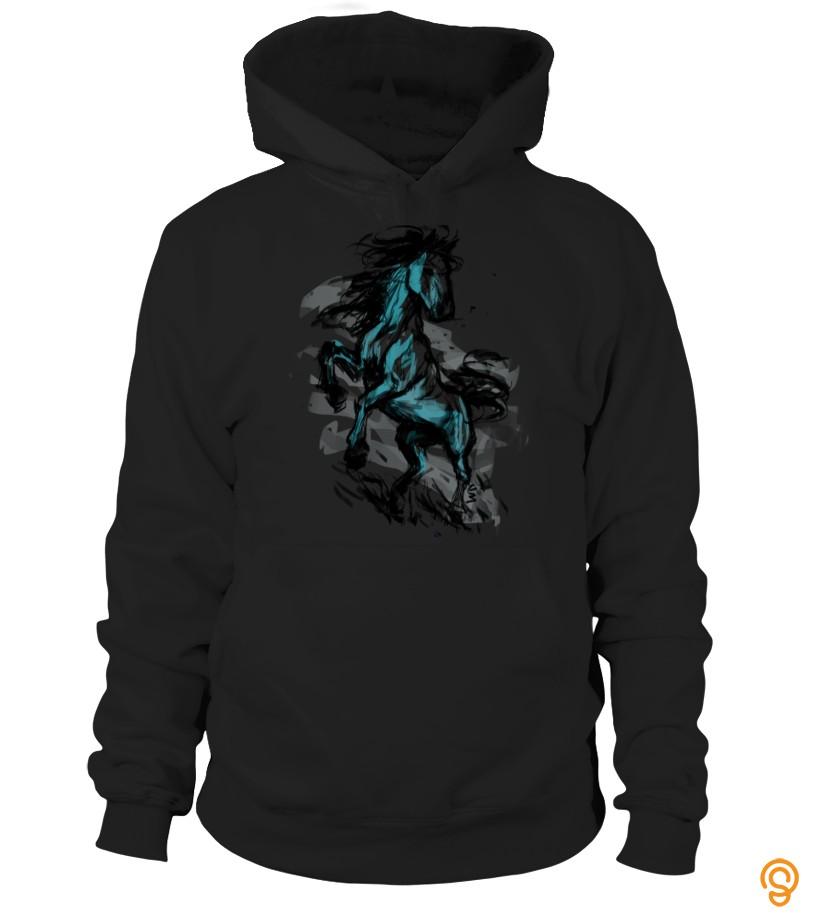 Clothing Brave Horse Ink  Shirt T Shirts Sayings Men