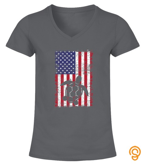 Sea Turtle 4Th Of July Shirt American Usa Flag Lover Gift Premium Tshirt