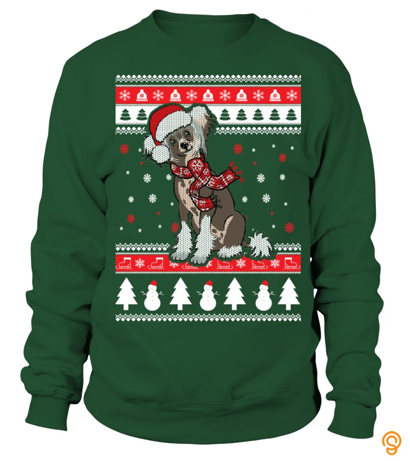 Fabric Chinese Crested Ugly Christmas Sweater Tee Shirts Clothing Brand