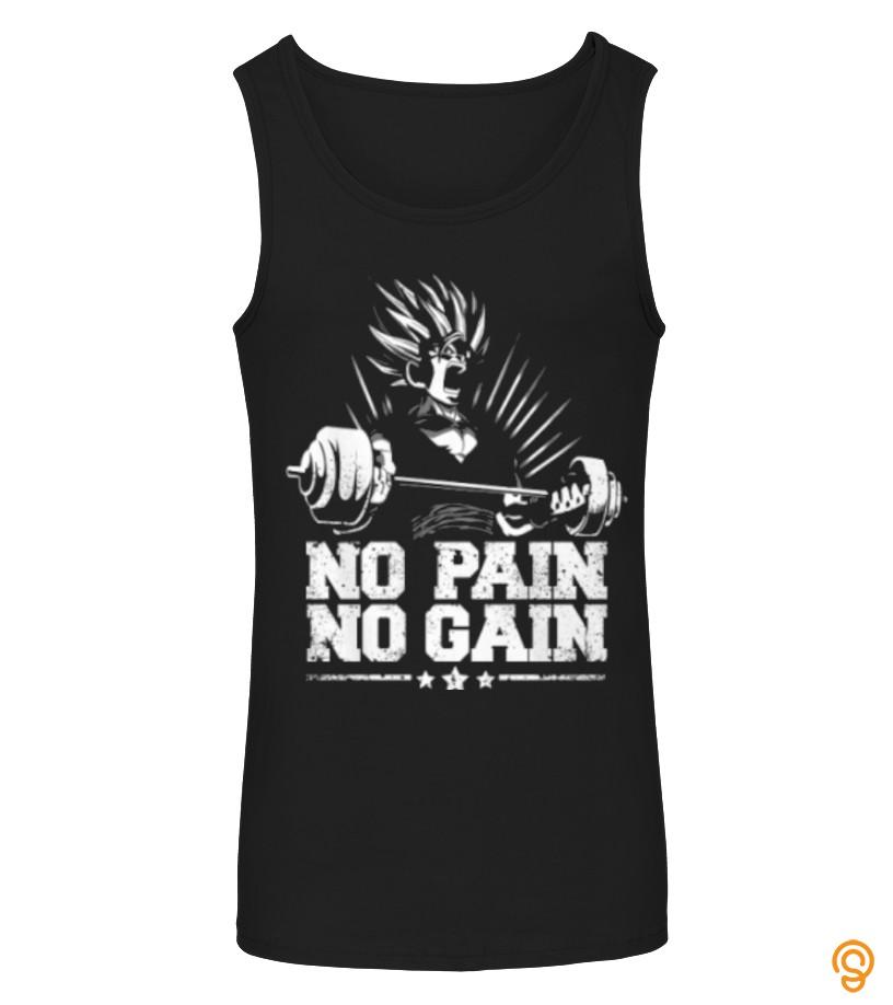 Adorable NO pain No gain Tee Shirts Size Xxl
