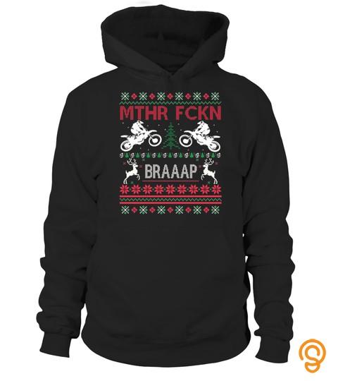 Mthr Fckn Braaap Ugly Christmas Sweater Dirt Bike