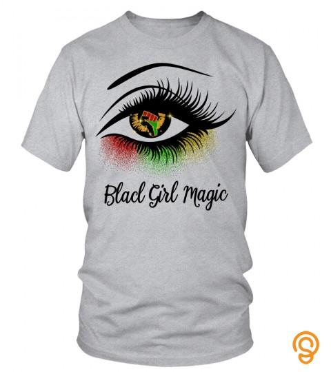 Black Girl Magic Eyelash T Shirt, Black Freedom, Black History Month, Resistance, Black Lives Matter, Black Pride, Juneteenth Free Ish Shirt