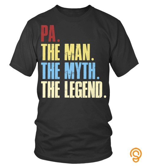 Cool The Man The Myth The Legend Shirt For Dad And Grandpa6 Tee