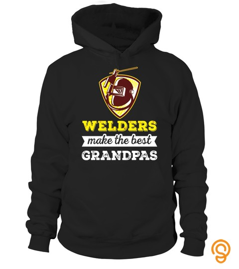 Welder Grandpa T Shirt   Welders Make The Best Grandpa