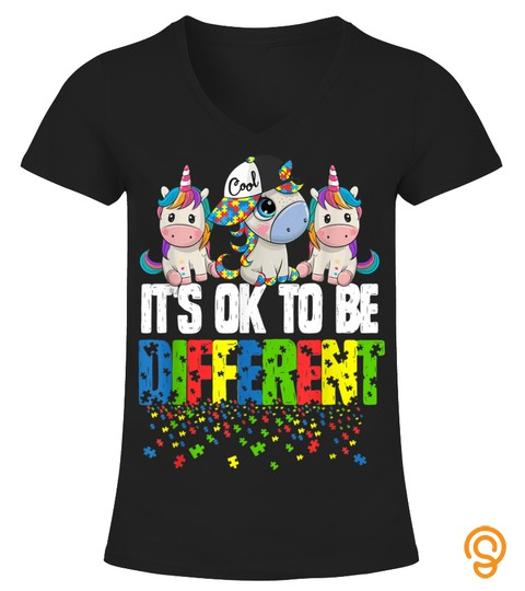 Autism Awareness Day Unicorn Gift Its Ok To Be Different T Shirt