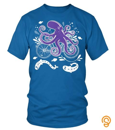 Cool Octopus Bike Lover Beautiful Present Cute Gift T Shirt