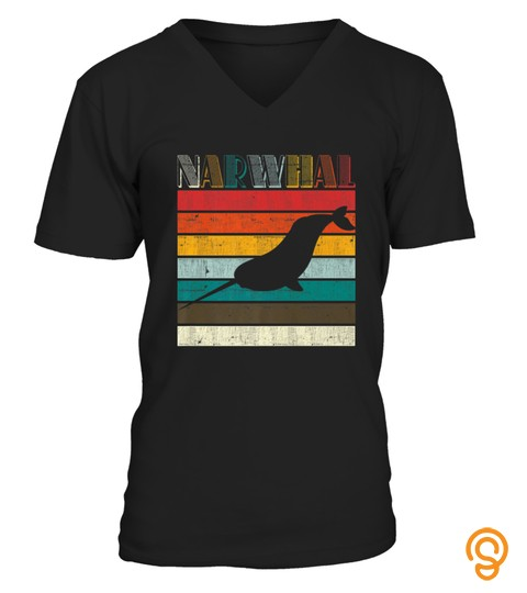 Beautiful Retro Narwhal Unicorn Of The Sea Tshirt   Hoodie   Mug (Full Size And Color)