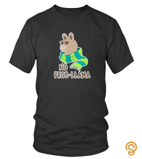 No Problama Funny Llama Alpaca Tshirt