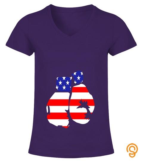 American Flag Boxing Gloves T Shirt