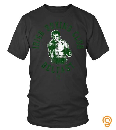 St Patrick's Day Tshirts   Irish Boxing Club Belfast Graphic Tshirt
