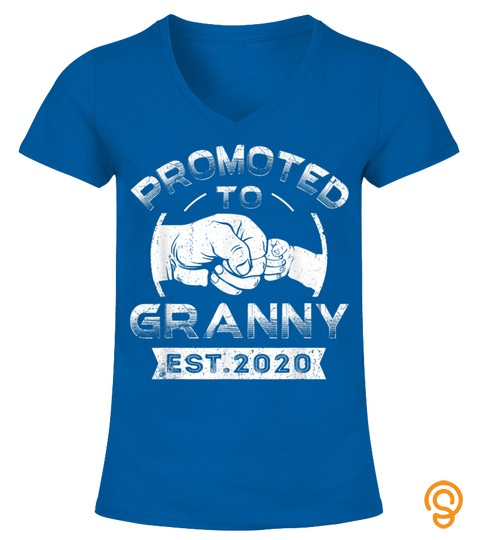 Promoted To Granny 2020 Cute Family Baby Mothers Day Gifts T Shirt