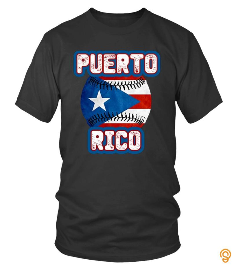 Puerto Rico Baseball Ball T Shirts 2017