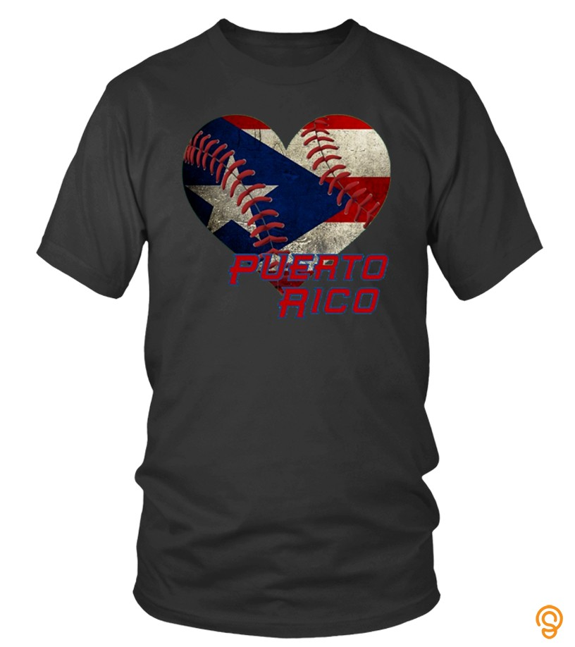 Active Puerto Rico Baseball Heart Flag T Shirt T Shirts Buy Now