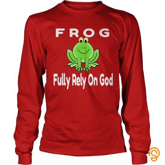 model-frog-fully-rely-on-god-t-shirts-wholesale