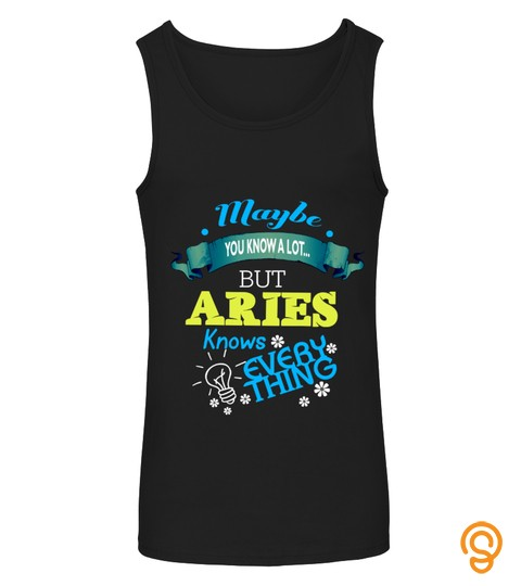 Aries Knows Everything Tanktop