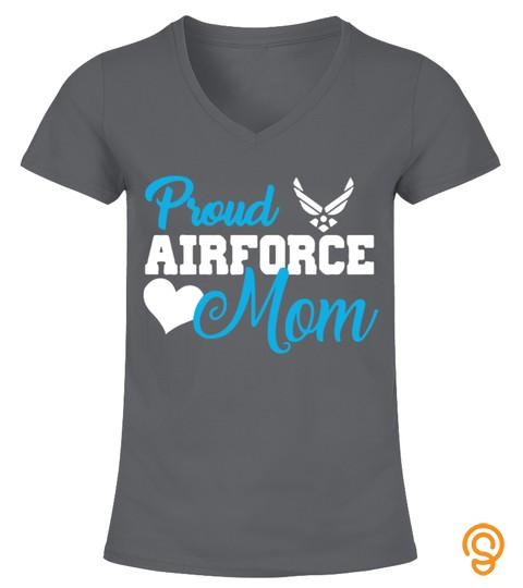 Proud Air Force Mom Heart Military Shirt
