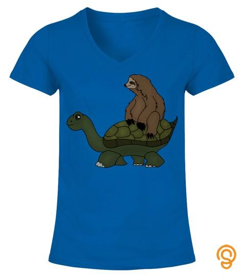 Funny Sloth Riding Turtle Spirit Animal Sweatshirt