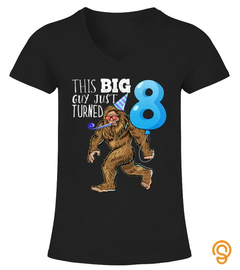 Kids Bigfoot 8Th Birthday Shirt Kids Bigfoot Birthday Tshirt   Hoodie   Mug (Full Size And Color)