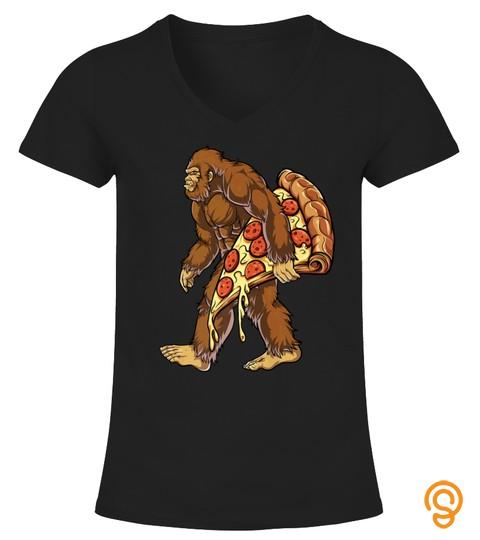 Bigfoot Pizza T Shirt Kids Boys Sasquatch Food Lovers Tshirt   Hoodie   Mug (Full Size And Color)